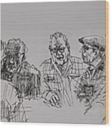 Old-timers  Wood Print