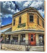 Old Town Bryan Drug Store Wood Print