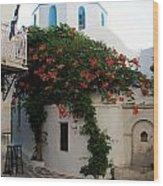 Old Town Church Paros Wood Print