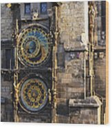 Old Town Hall Clock Wood Print
