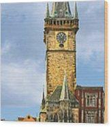 Old Town Hall Prague Cz Wood Print