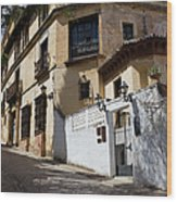 Old Town In Ronda Wood Print