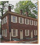 Old Town Philadelphia Brownstone House Wood Print