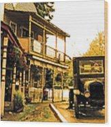 Old Town Wood Print