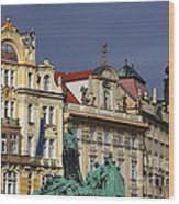 Old Town Square In Prague Wood Print