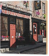 Old Towne Dining Wood Print