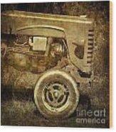 Old Tractor Wood Print by Bernard Jaubert