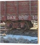 Old Train Boxcar Wood Print