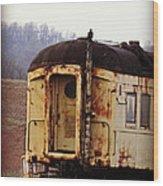 Old Train Car Wood Print