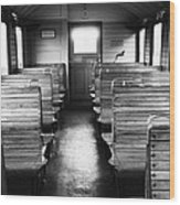 Old Train Compartment Wood Print by Falko Follert