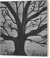 Old Tree With No Leaves Wood Print