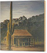 Old Tucson Home Wood Print