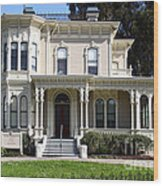 Old Victorian Camron-stanford House . Oakland California . 7d13440 Wood Print by Wingsdomain Art and Photography
