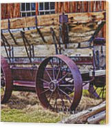 Old Wagon Bodie Ghost Town Wood Print by Garry Gay