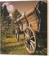 Old Wagon Wood Print