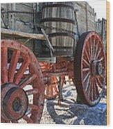 Old Wagon Train Wood Print
