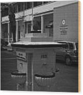 Old Water Fountain In Front Of Old Larnaca Hospital Larnaka Republic Of Cyprus Europe Wood Print