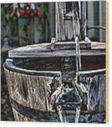 Old Water Pump Wood Print