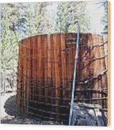Old Water Tank Wood Print