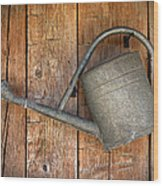 Old Watering Can Wood Print