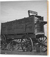 Old West Wagon Wood Print