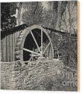 Old West Water Mill 3 Wood Print by Darcy Michaelchuk