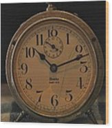 Old Westclock Wood Print