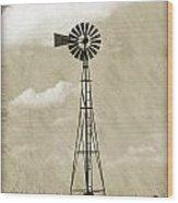 Old Windmill I Wood Print