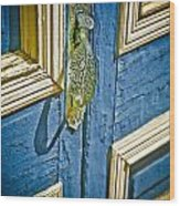 Old Wood Door Wood Print