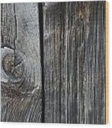 Old Wood On A Barn Iron Hill, Quebec Wood Print