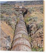 Old Wooden Water Pipeline - Rural Idaho Wood Print