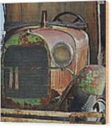 Old Work Horse Wood Print