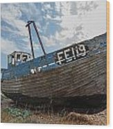 Old Wrecked Fishing Boat Wood Print
