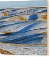 Oldman River Valley In Winter Wood Print