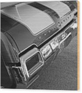 Olds Cs In Black And White Wood Print
