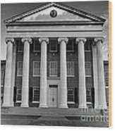 Ole Miss Lyceum Black And White Wood Print