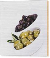 Olive Bowls Wood Print