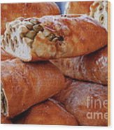 Olive Bread Wood Print