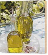 Olive Oil Wood Print by Erika Craddock