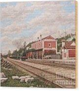 Oliveira Do Bairro Train Station Xix - Estacao Comboio De Oliveira Do Bairro Portugal Wood Print