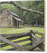 Oliver Cabin In Cade's Cove Wood Print