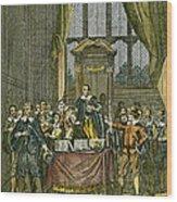 Oliver Cromwell Wood Print