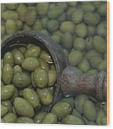 Olives Being Processed In Provence Wood Print