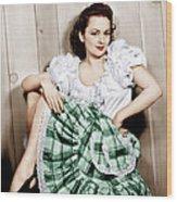 Olivia De Havilland, Ca. 1948 Wood Print