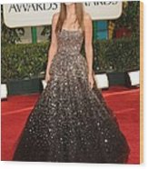 Olivia Wilde Wearing A Marchesa Gown Wood Print by Everett