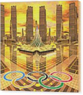 Olympia The City Of Ancient And New Champions Wood Print