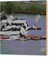 Olympic Lightweight Double Sculls Wood Print