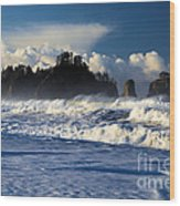 Olympic Ocean Swirls Wood Print