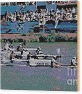 Olympic Rowing Wood Print