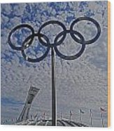 Olympic Stadium Montreal Wood Print by Juergen Weiss